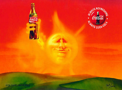 Refreshment Coke Coca-Cola Beach Summer Lithocel Advertising Art Ad Commercial
