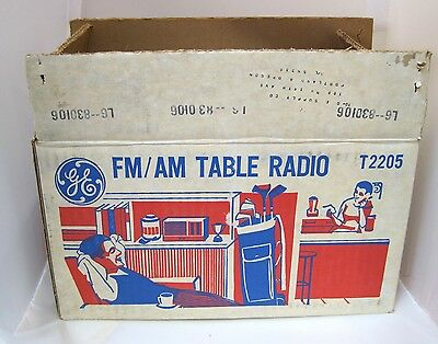 Vintage GE General Electric Solid State Radio Beige FM/AM Model T2205 BOX ONLY