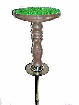 """New Falconry Block Perches 6""""at discount,AstroTurf, bag, Portable 5 in1, Brown"""