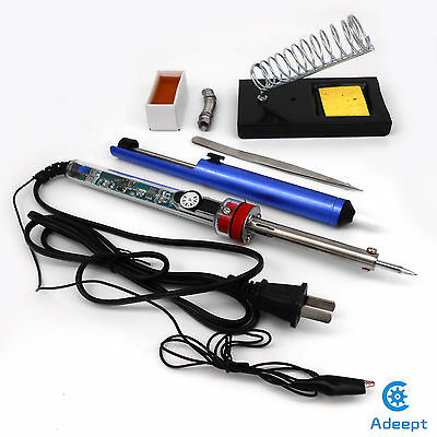 New 220V 60W Adjustable Electric Temperature Gun Welding Soldering Iron Tool kit