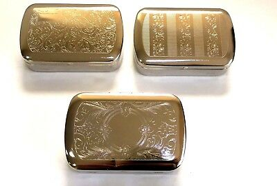 Metal Tobacco Tin 1oz with Paper Holder Choice of 3 Designs