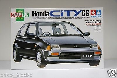 Tamiya 24069 1/24 Scale JDM Honda City GG GA1 D12A SOHC 16V Snap-Loc Model Kit