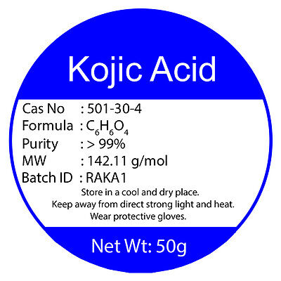 100% PURE KOJIC ACID POWDER 50g Buy2 Get3 SKIN BLEACHING WHITENING LIGHTENING