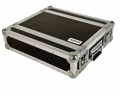 deetech 2 HE Flightcase Short / Effektcase / Flight Rack / Double Door Case 9 mm