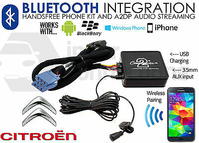 Citroen C3 Bluetooth adapter streaming handsfree calls CTACTBT001 2002-2005 RD3