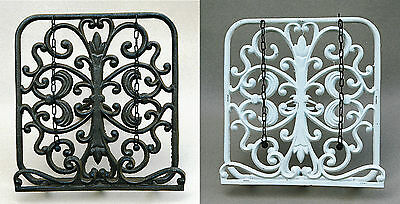 Cast Iron Vintage Style Rustic Cook Book Rack Holder Stand