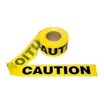 """T15101- 1 Roll- Yellow Barrier Caution Tape 1.5 MIL 3""""X1000 Ft. Free US Shipping"""