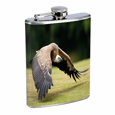 Vulture D4 8oz Stainless Steel Scavenger Bird King Black