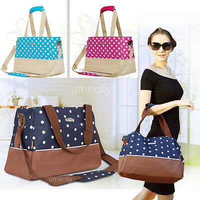 New Fashion Womens Baby Diaper Nappy Changing Bag Tote Handbag shoulers bags