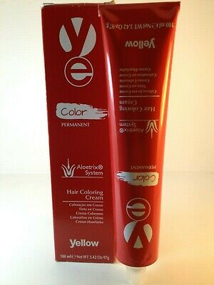Yellow Aloetrix System Hair Coloring Cream  100Ml Tube Shade 7-10
