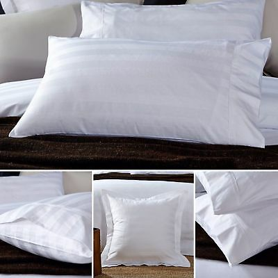 NEW Premium Cotton 500TC 2cm Stripe White Euro Cover Pillow slip pillowcase