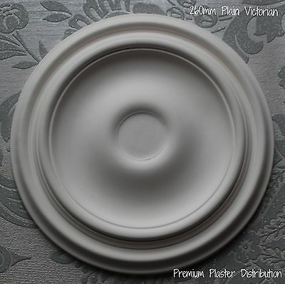 """Small Plaster Ceiling Rose PlainTraditional Victorian Design 260mm/10"""" Hand Made"""