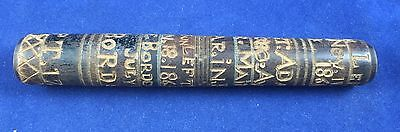 Folk Art Sailor's Needle Case - Signed & Dated With Voyages c. 1865 - American