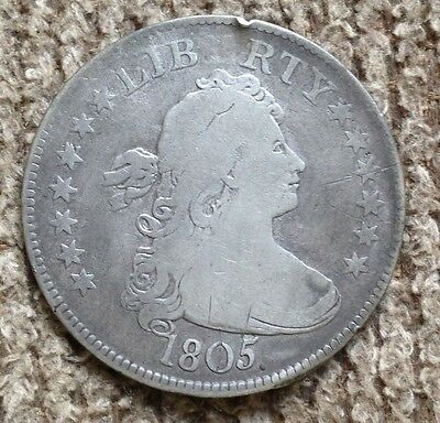 1805 Draped Bust Quarter - Fine Details, rim nick and  some minorscratches