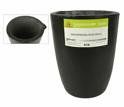A16 Salamander Crucible Super Clay Graphite For Melting Gold Silver Copper Brass
