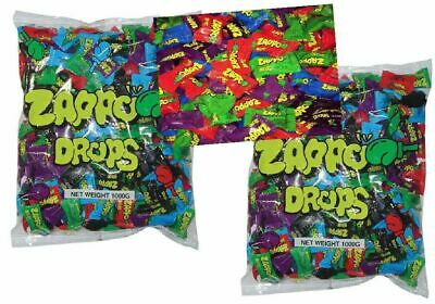 Bulk Lot 2 kg x Zappo Drops Approx 400 Pieces Sour Candy Buffet Lollies Sweets