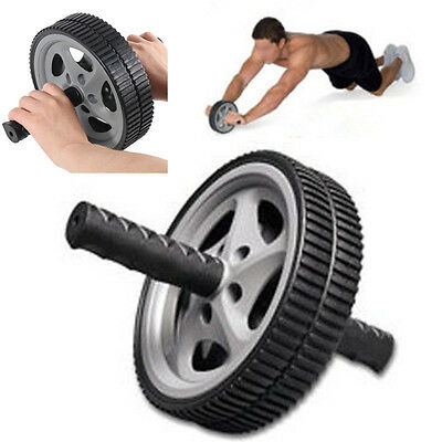 ABS Double Roue Rouleau Abdominale Exercice Gym Fitness Corps Minceur Yoga Roll