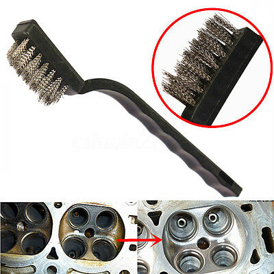 "Stainless Steel Wire Brush Rust Remover Sparks Wheels Cleaning Scrub 7"" Long NEW"