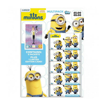 Topps Minions Trading Card Game Multipack (5 Packs + 1 Limited Edition Card) NEW