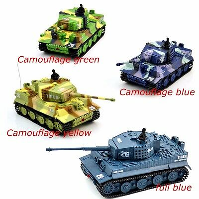 RC Tank Remote Control Toy 1:72  2117 German Tiger Battling Fighting Sound Toys