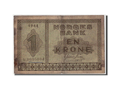 [#308102] Norway, 1 Krone, 1944, KM:15a, Undated, F(12-15)