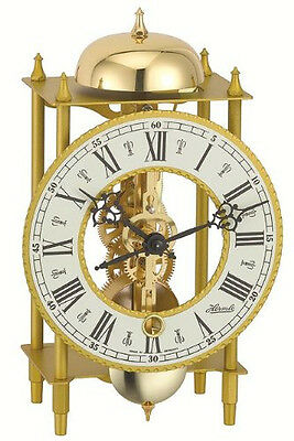 Hermle Lahr Mechanical Mantel Clock - Wrought Iron - Strike on Hour