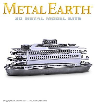 Fascinations Metal Earth Commuter Ferry Boat Laser Cut 3D Model