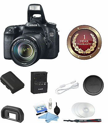 Canon EOS 70D Digital SLR Camera with 18-135mm STM LENS *8469B016* NEW!