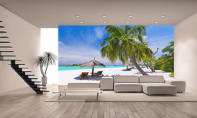 Tropical Palm Beach Wall Mural Photo Wallpaper GIANT DECOR Paper Poster