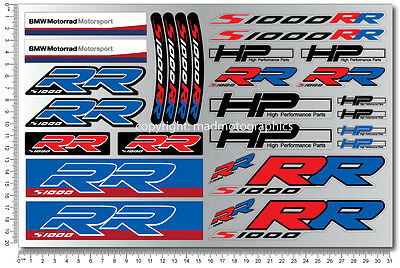 bmw s1000rr motorrad motorcycle decal sheets 28 high quality stickers hp4 02
