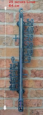 """Large Filigree Garden Wall decorative skeleton Thermometer Indoor/Outdoor 25"""""""