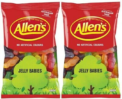 Bulk Lot 2.6 kg  x Allens Jelly Babies Bag Candy Buffet Lollies Party Treats New