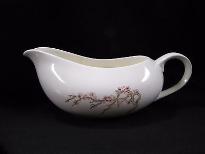Porcelain Gravy Boat Plum Blossom Hand Painted Japan