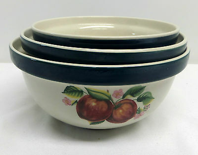 China Pearl Casual Apple Set of 3 Nesting Mixing Bowls