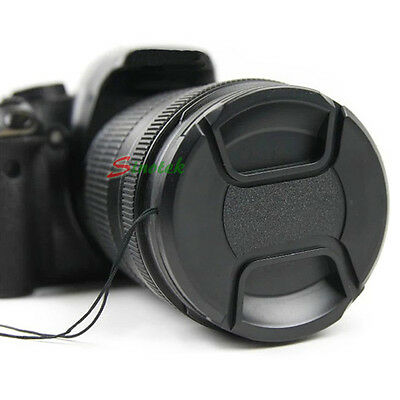 58mm Center Pinch Lens Cap w/ cord for Canon SLR Camera eos ef 18-55-250 75/300