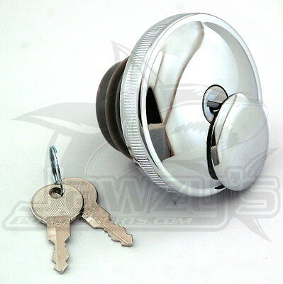 Non-Vented LH Screw-In Locking Gas Cap for L96-12 Drag Specialties 03-0320A-B