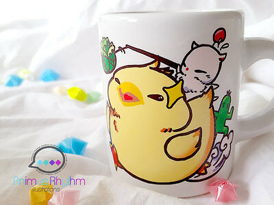 Fat Chocobo Mini ceramic Mug Final Fantasy Moogle game