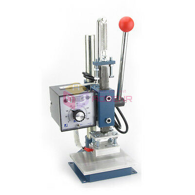 NEW  Hot Foil Stamping Machine Manual Marking Leather Embossing w/TEMP Control