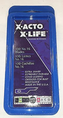 X-ACTO X-LIFE #16 Blades Pack of 100