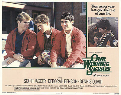 Our Winning Season 1978 Original Movie Poster Comedy Crime Mystery