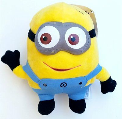 """New 7"""" DAVE Despicable Me Minion Plush Stuffed Animal Doll Toy Movie"""