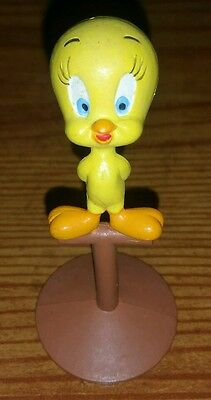 1988 Tweety On Perch Warner Brothers PVC Toy
