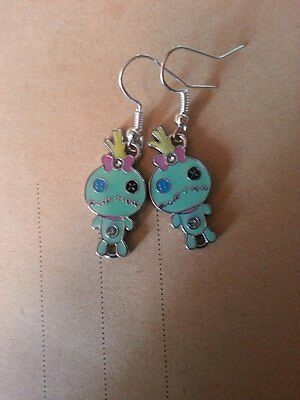 Voodoo Zombie Poppet Scrump Doll Earrings