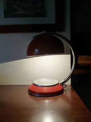 Lampada ministeriale arancione vintage design anni 70 space age table lamp