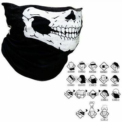 Full Face Mask Cap Hat Skull Scarf Mask Motorcycle Balaclava Neck Snood Ski Bike