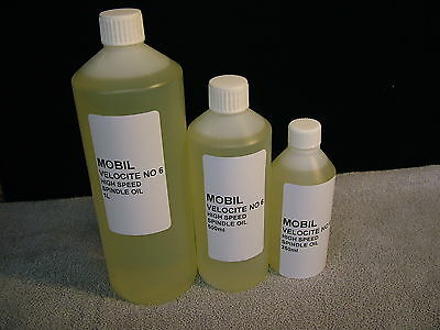 Mobil Velocite No6. High Speed Spindle Oil. Free U.K Postage.