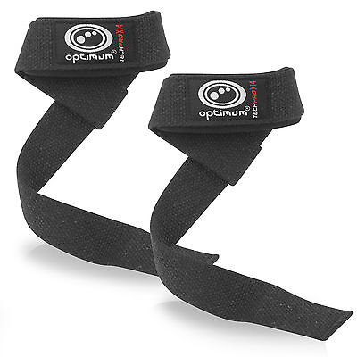 Optimum Lifting Weight Straps Training Gym Hand Bar Wrist Support Gloves Wrap