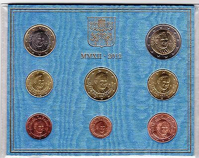 Vatican - 8 Dif Coins Set: 1 Cent - 2 Euro 2012 Year Pope Benedict Xvi Mint Pack