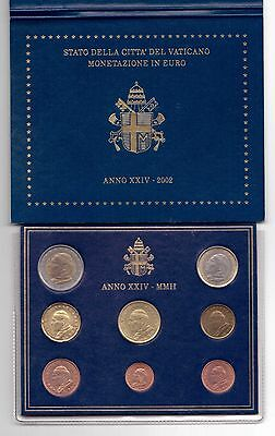 Vatican - First Issue 8 Dif Coins Set: 1 Cent - 2 Euro 2002 Year John Paul Ii