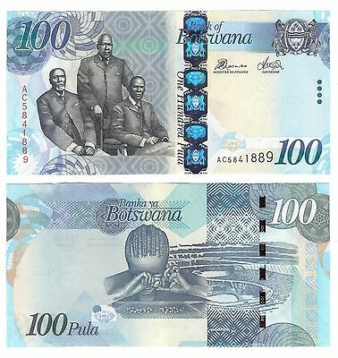 Botswana - New Issue 100 Pula Unc Banknote 2010 Year